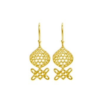 Andalusia Medium Hanging Earrings in Yellow gold