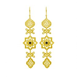 spanish inspired earrings gold