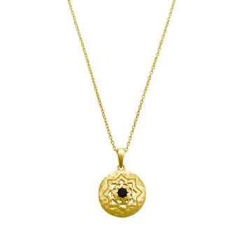 Andalusia Gold Necklace with Black Spinel Stone