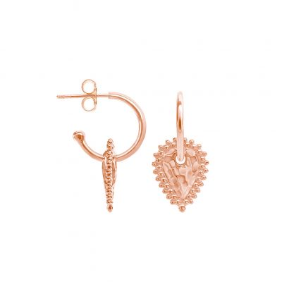 Escape Small Hoops in Rose Gold Plate
