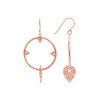 Sri Lankan inspired Hoop Earrings in Rose Gold