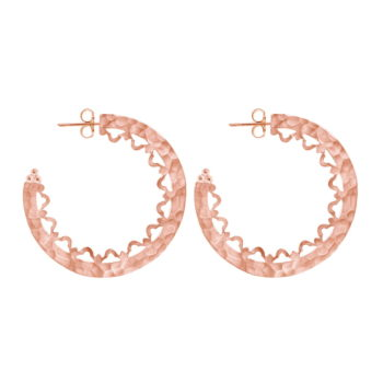 Rose Gold Statement Hoops