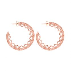 Escape Statement Hoop Earrings in Rose Gold