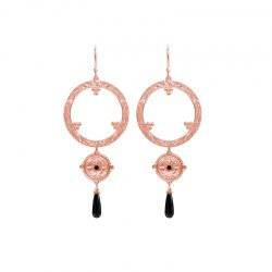 long earrings rose gold
