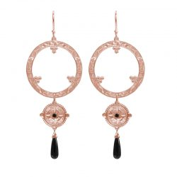 Escape Large statement earrings in rose gold