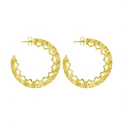 Statement Hoop Earrings in 18KT Yellow Gold Plate