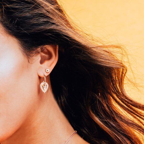 Escape Small Earrings in Rose Gold