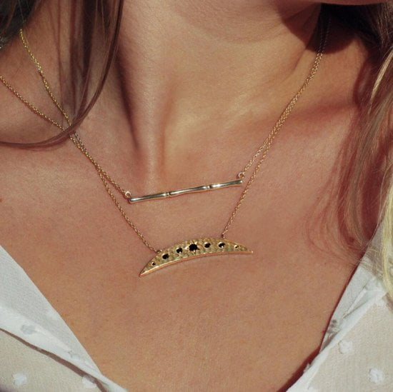 eclipse necklace gold