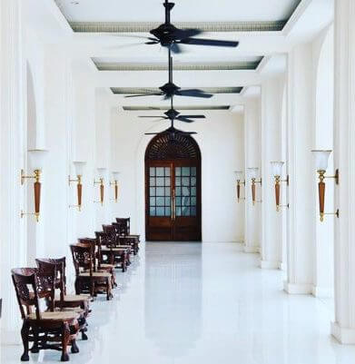 The historic Galle Face Hotel