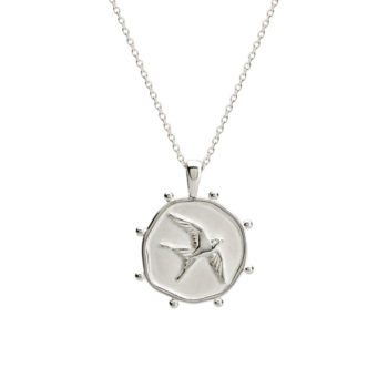 Silver bird necklace handcrafted