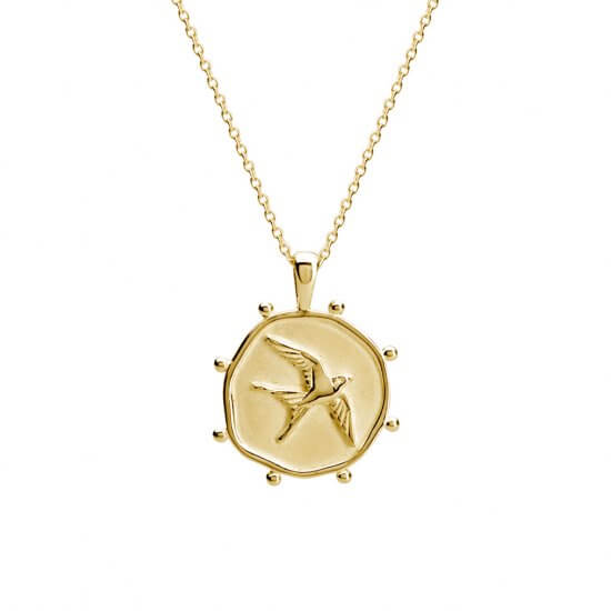 Gold Necklace Freedom handcrafted