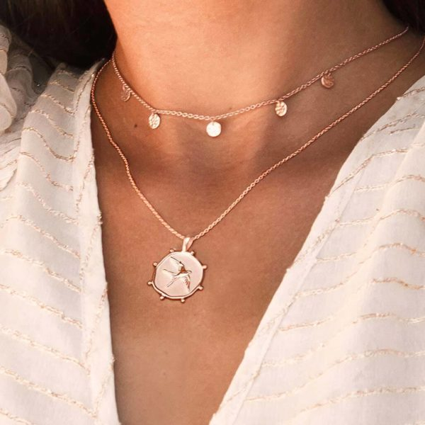 Freedom Necklace in Rose Gold Plate