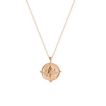 Blooming Necklace in Rose Gold Plate