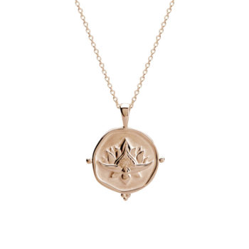 Lotus Necklace Rose Gold handcrafted