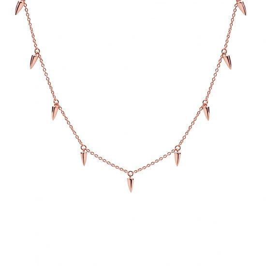 Sahara Dagger Choker Necklace in Rose Gold Plate
