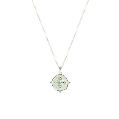 Sahara Medallion Necklace in Sterling Silver