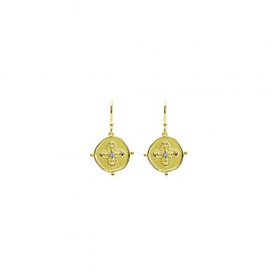 Sahara Drop Earrings in 18 KT Yellow Gold Plate