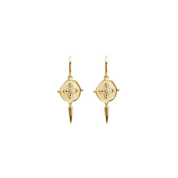 Sahara Small Hoop Earrings in 18 KT Yellow Gold Plate
