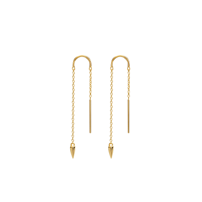 Sahara Dagger Thread Earrings in 18 KT Yellow Gold Plate