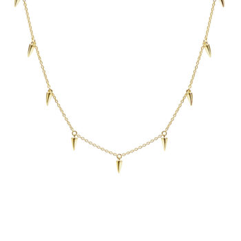 Sahara Dagger Choker Necklace in 18 KT Yellow Gold