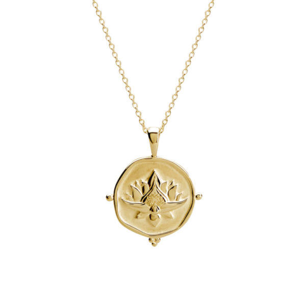 Lotus necklace gold handcrafted australian