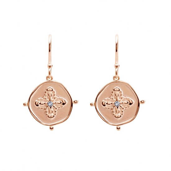 Small Earrings in Rose Gold Plate