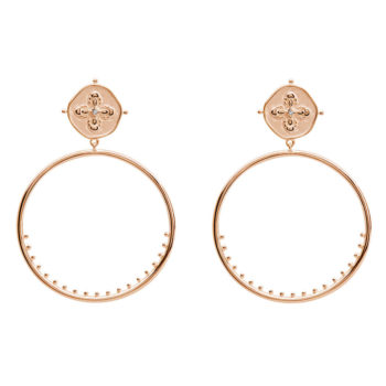 Large Hoop Earrings in Rose Gold Plate
