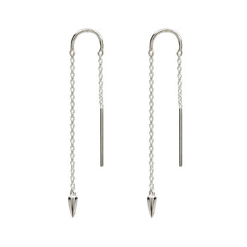 Dagger Thread Earrings in Sterling Silver