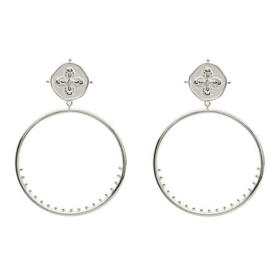 Large Hoop Earrings in Sterling Silver