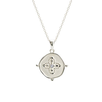 Medallion Necklace in Sterling Silver