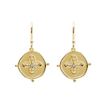 Small Earrings in 18 KT Yellow Gold Plate