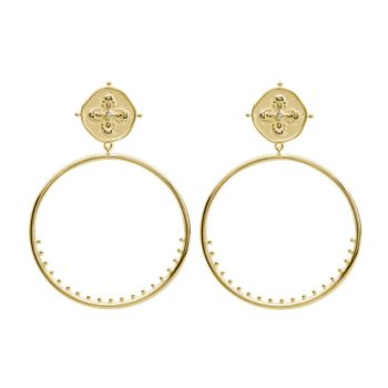 Gold Hoops Handcrafted