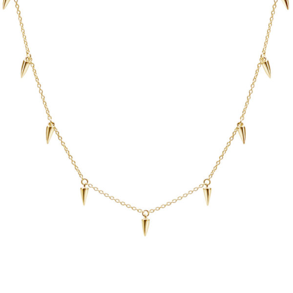 Gold choker necklace edgy