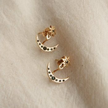 Starry Nights Stud Earrings in 18 KT Yellow Gold Plate