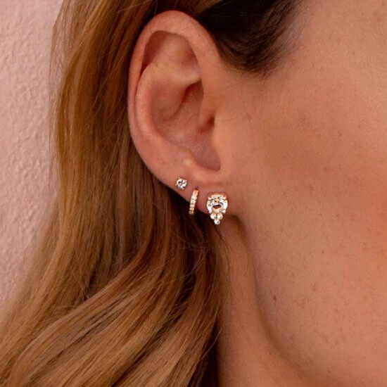 Rose Gold earrings stack