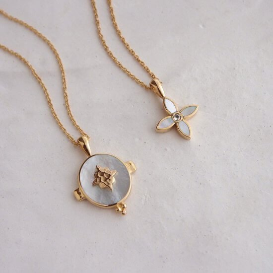 Gold Necklaces Mother of Pearl
