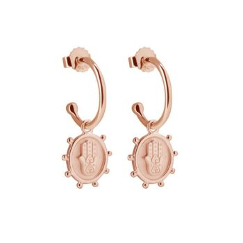 Protect Earrings made in 2 micron Rose Gold Plate