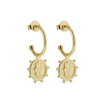 Protect Earrings in 18 KT Yellow Gold Plate