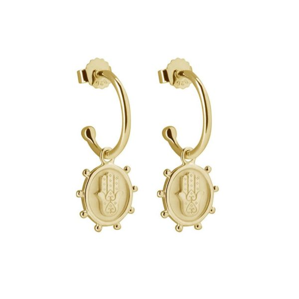 Protect Hoop Earrings in 18KT Yellow Gold Plate
