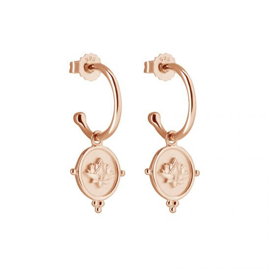 Blooming Earrings in 2 micron Rose Gold Plate