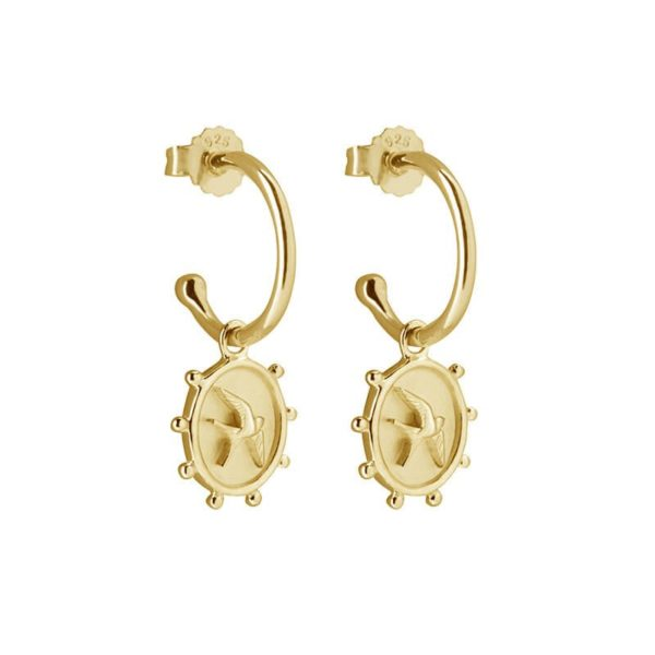 Freedom Earrings in 18KT Yellow Gold Plate