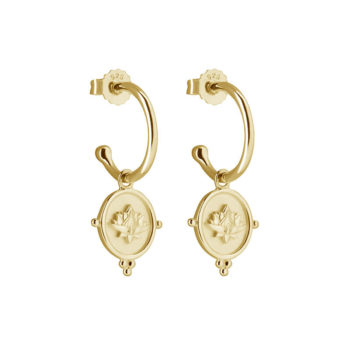 Blooming Earrings in 18 KT Yellow Gold Plate