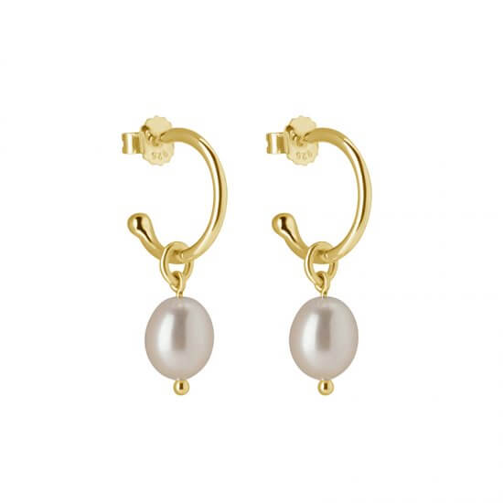 Hoop with Pearl Drop Earrings