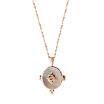 Oval Necklace in Rose Gold Plate