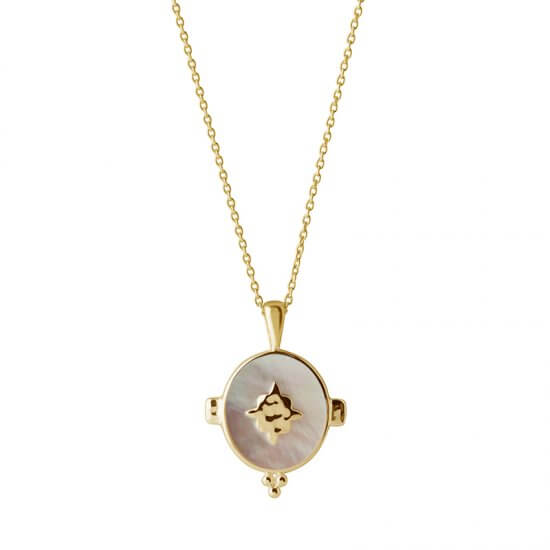 Oval Necklace in 18 KT Yellow Gold Plate