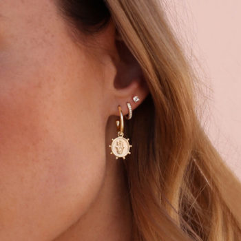 Protect hoop earrings in gold