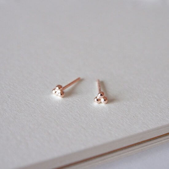 Small Earrings Rose Gold