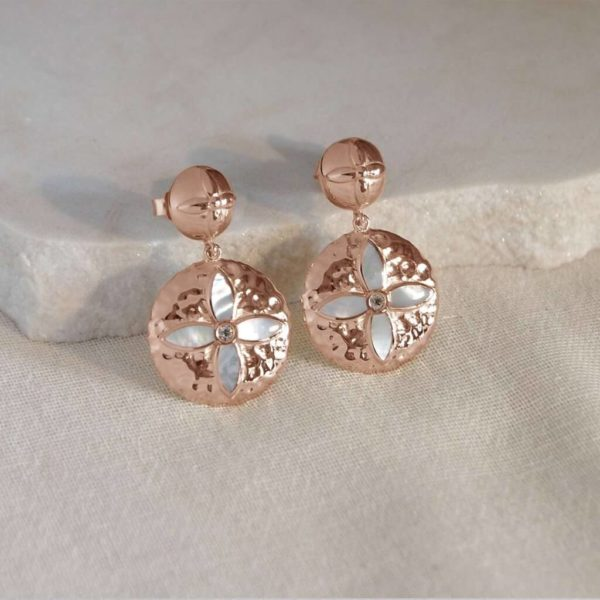 Statement Earings in Rose Gold