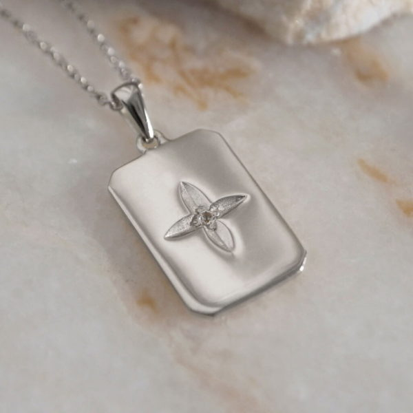 Rectangle Necklace 925 silver