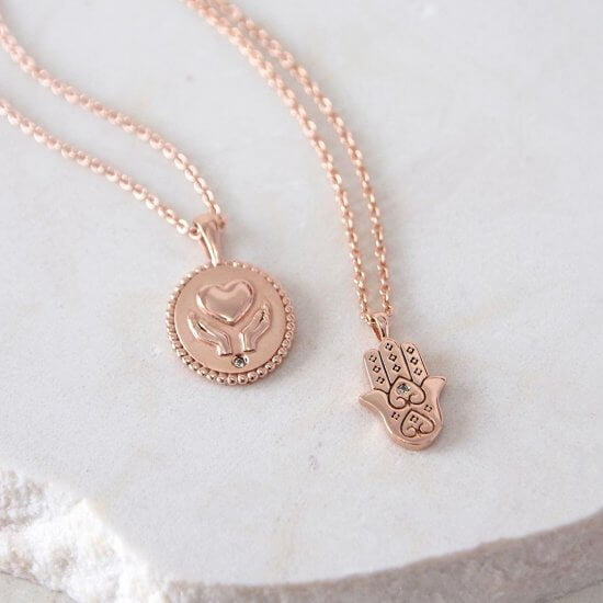 Healing Necklace Rose Gold